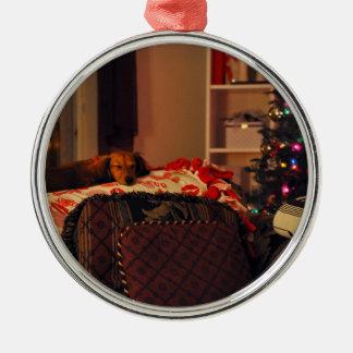 Sova helgdagvalpen julgransprydnad metall