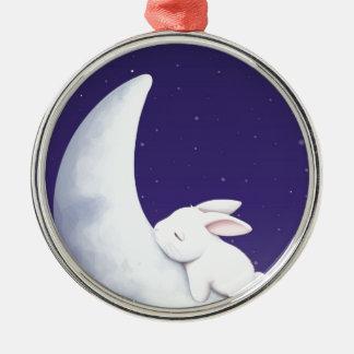 Sova kaninen julgransprydnad metall