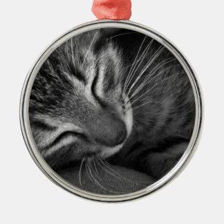 Sova kattungen julgransprydnad metall