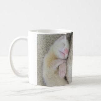 Sova morsa- och bebisvesslamuggen kaffemugg