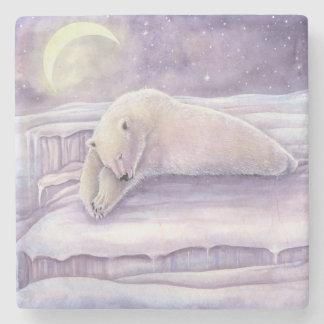 Sova polar konst för måne för björnvinterplats underlägg sten