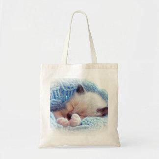 Sova Siamese kattungetassar Tygkasse