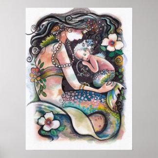 Sova sjöjungfruar, mamman och barnet poster