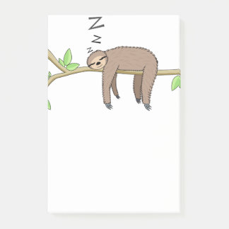 Sova sloth post-it lappar