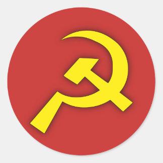 Sovjet bultar & skäran runt klistermärke