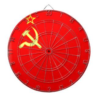 Sovjet - facklig flagga darttavla