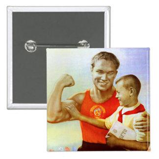 Sovjet övar propaganda standard kanpp fyrkantig 5.1 cm