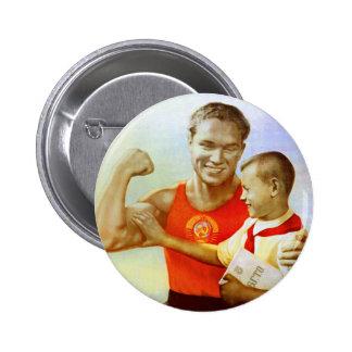 Sovjet övar propaganda standard knapp rund 5.7 cm
