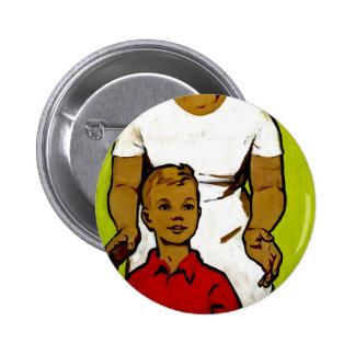 Sovjetisk familjpropaganda standard knapp rund 5.7 cm
