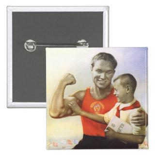 Sovjetisk idrottsman standard kanpp fyrkantig 5.1 cm