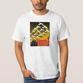Sovjetisk propagandaaffisch, krigaffisch t-shirt