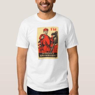 Sovjetisk propagandaaffisch tshirts