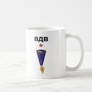 Sovjetisk rysk luftburen vingar kaffemugg