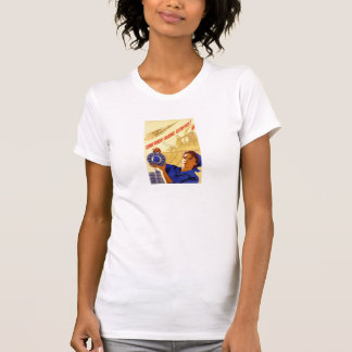 sovjetisk utrymmepropaganda tee shirt