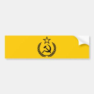 Sovjetisk vapensköld och skära bildekal