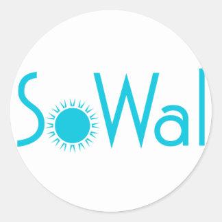SoWal södra Walton County med solen Runt Klistermärke