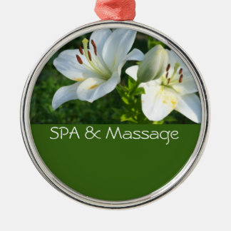 SPA och massage Julgransprydnad Metall