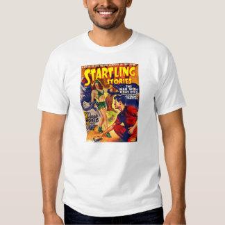Spaceship för berättelser för Retro SciFi för T-shirts