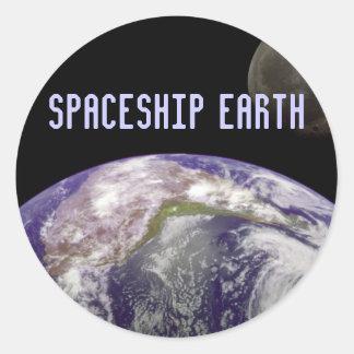 spaceshipjordklistermärkear runt klistermärke
