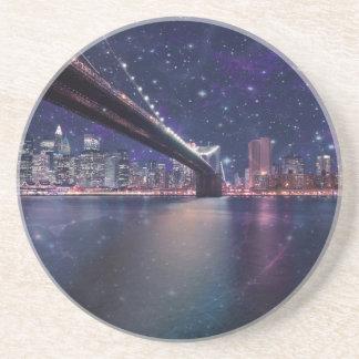Spacey Manhattan horisont Underlägg