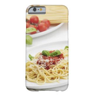 Spagetti med tomatsås och basilika barely there iPhone 6 skal