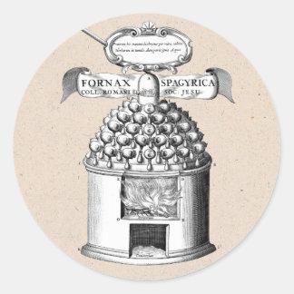 Spagyric växt- medicin runt klistermärke