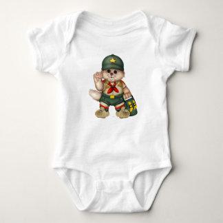 SPANA den KATTbabyJersey bodysuiten T-shirt