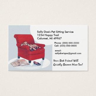 Spaniel i visitkort för stil för röd stol~ Retro