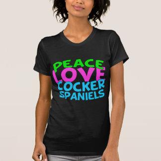 Spaniels för fredkärlekcockerspaniel t shirts