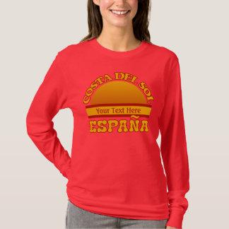 SPANIEN Costa Del Solenoid den beställnings- T-shirts