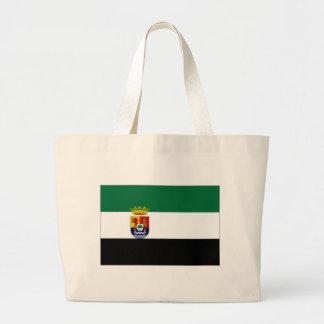 Spanien Extremadura flagga Tote Bags