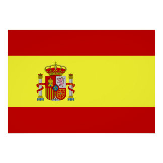 Spanien flagga poster