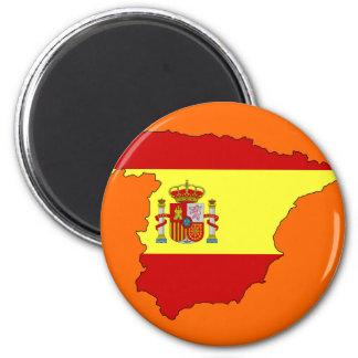 Spanien flaggakarta magnet