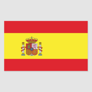 Spanien flaggaklistermärke rektangulärt klistermärke