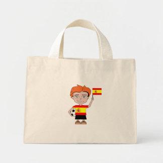 Spanien fotboll mini tygkasse