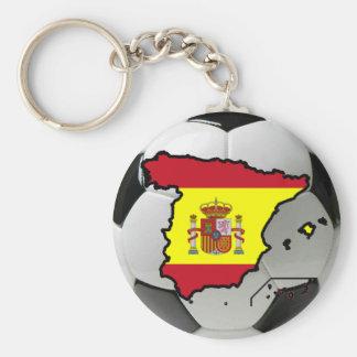 Spanien futbol rund nyckelring