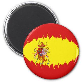 Spanien Gnarly flagga Kylskåps Magneter