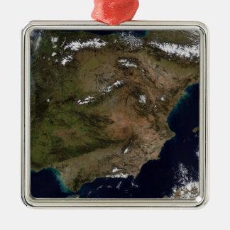 Spanien och Portugal 2 Julgransprydnad Metall