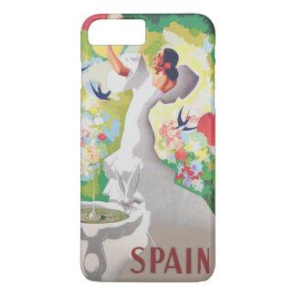 Spanien Senorita Fågel Blomma Fiesta Arbeta i