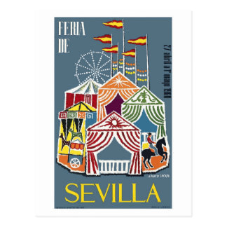 Spanien Seville festivalaffisch 1960 Vykort