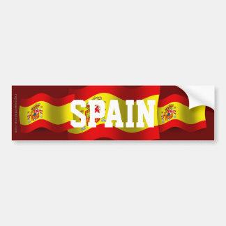 Spanien som vinkar flagga bildekal