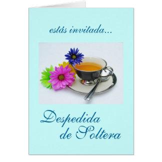 Spanjor: Despedida de Soltera/möhippa Hälsningskort