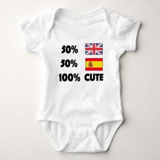 Spanjor för 50% britt 50% 100% gulliga baby UK Tee