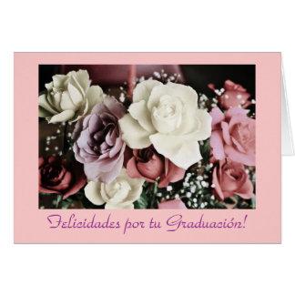 Spanjor: Graduacion /Graduation blommor Hälsningskort