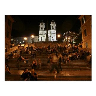 Spanjoren kliver vid natt vykort