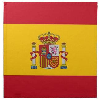 Spanjorflagga på den MoJo servetten Tygservett