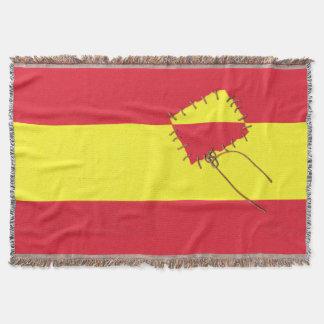 Spanjorflagga vid @QUIXOTEdotTV Dekorativ Filt