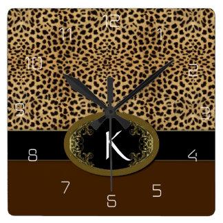 Spänna fast upp Leopard Fyrkantig Klocka
