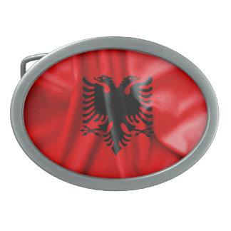 Spänner fast det ovala bältet för den Albanien