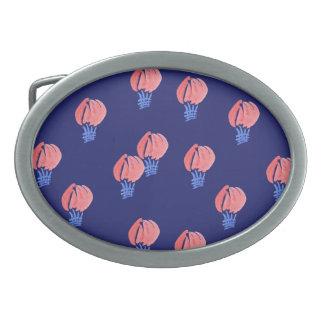 Spänner fast det ovala bältet för luftballonger